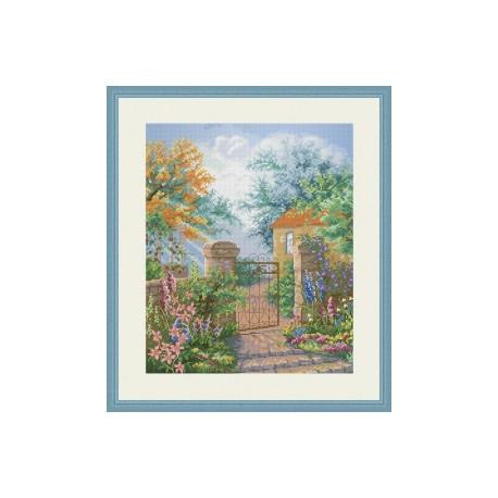 Набор для вышивания крестиком OLanTa Калитка в сад VN-135