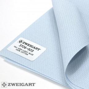 Канва Zweigart 14 (100 см. х 150 см) небесно-голубой 3706/503