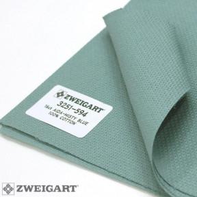 Канва Zweigart 16 (1,5 м  х 1 м ) туманно-синий 3751/594