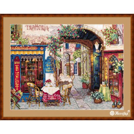 Набор для вышивания крестом Мережка Кафе в Вероне К-161 фото