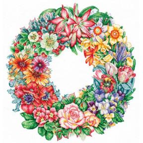 Набор для вышивки крестом Сделай Своими Руками Торжество цветов Т-15