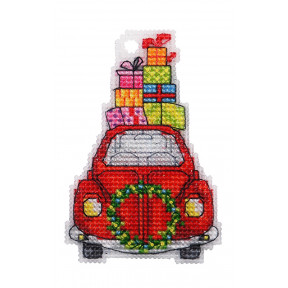 Набор для вышивки крестом Alisena Машинка 8027а