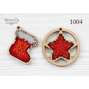"""Набор для вышивки крестом на деревянной основе ФрузелОк """"Украшения"""" 1004"""