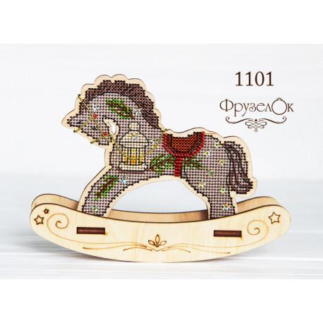 """Набор для вышивания крестиком на деревянной основе ФрузелОк  """"Праздничный"""" 1101"""