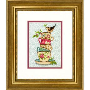 Набор для вышивания  Dimensions Stacked Tea Cups 70-65171