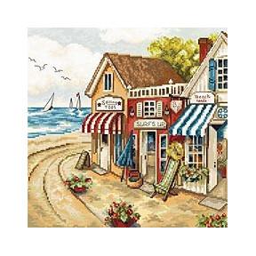 Набор для вышивания LETISTITCH Магазины у моря LETI 905