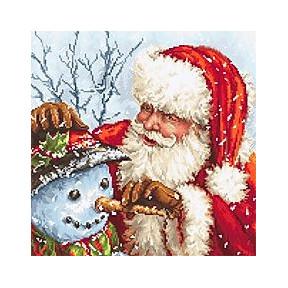 Набор для вышивания LETISTITCH Дед Мороз и Снеговик LETI 919