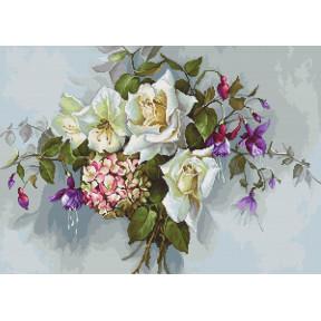 Набор для вышивки крестом Luca-S Букет с розами BA2363