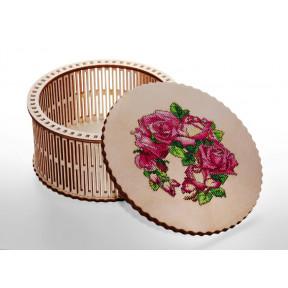 Шкатулка под вышивку крестиком -розы без ниток  Alisena 5569а