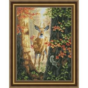Набор для вышивания крестиком OLanTa Лесной олень VN-136
