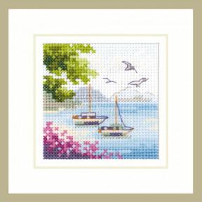 Набор для вышивки крестом Алиса Вид на море 0-203