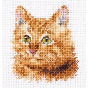 Набор для вышивки крестом Алиса Животные в портретах. Рыжий кот 0-207