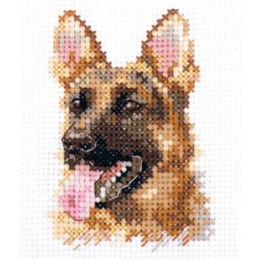 Набор для вышивки крестом Алиса  Животные в портретах. Овчарка 0-209
