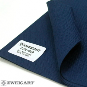 Канва Zweigart 14 (50 см х 50 см ) темно-синий 3264/589