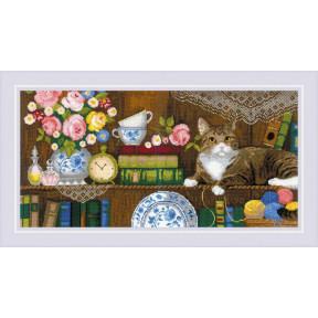 """Набор для вышивки крестом Риолис """"Панно/2 подушки"""" Домашний уют 1815"""