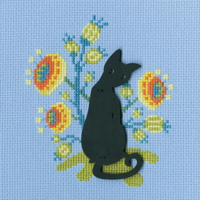 """Набор для вышивки крестиком RTO """"Кошка"""" CBE9008"""