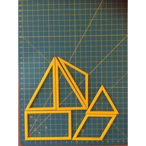 Шаблон для печворка 3D куб 003106 (Украина)