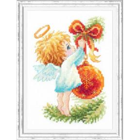 Набор для вышивки крестом Чудесная игла Ангел Рождества 160-001