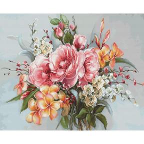 Набор для вышивки крестом Luca-S Букет цветов BA2364