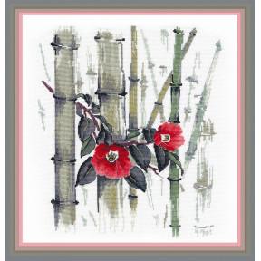 Набор для вышивки крестом Овен Камелии в бамбуковой роще  1268о