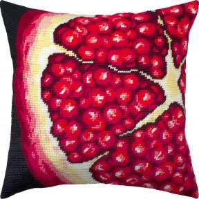 Набор для вышивки подушки Чарівниця Гранат V-296