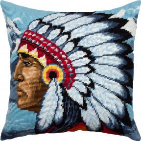 Набор для вышивки подушки Чарівниця Индеец V-298