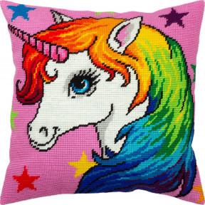 Набор для вышивки подушки Чарівниця Единорог V-301