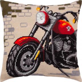 Набор для вышивки подушки Чарівниця Мотоцикл V-304