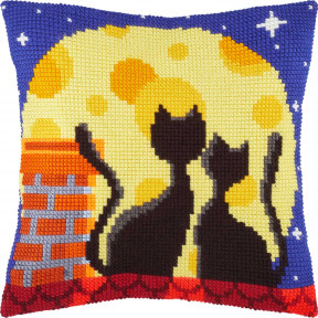 Набор для вышивки подушки Чарівниця Коты на крыше  Z-79