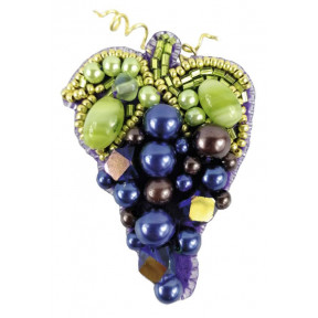 """Набор для изготовления броши Crystal Art """"Виноград"""" БП-255"""