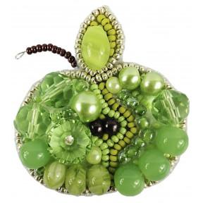 """Набор для изготовления броши Crystal Art """"Зелёное яблоко"""" БП-256"""