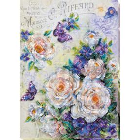 """Набор для вышивки бисером на холсте Абрис Арт """"Цветы для любимой"""" АВ-716"""