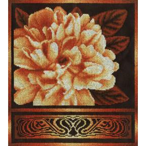 Набор для вышивки крестом Panna Ц-1020 Золотистый пион