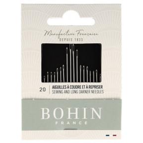 Набор игл для шитья Needles Book Ассорти (20шт) Bohin (Франция) 05599