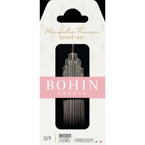 Набор игл вышивки гладью Embroidery №5/10 (15шт) Bohin (Франция) 00769