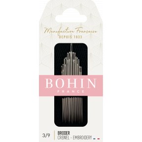 Набор игл вышивки гладью Embroidery №1/10 (15шт)  Bohin (Франция) 00772