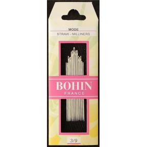 Набор шляпочных игл для шитья Milliners №3/12 (15шт) Bohin (Франция) 00669