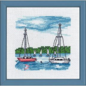 Набор для вышивания Permin (White boat) 13-8119