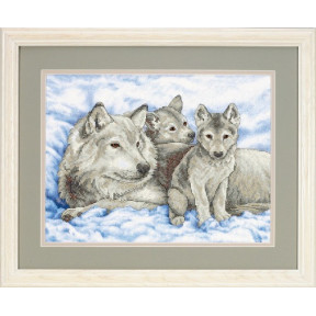Набор для вышивания  Dimensions Mother Wolf and Pups 13130