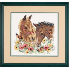 Набор для вышивания крестом Dimensions Horse Friends 03230