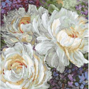 Набор для вышивания LETISTITCH Белые розы LETI 930