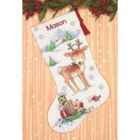 Набор для вышивания крестом Dimensions Reindeer and Hedgehog 70-08978