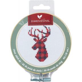 Набор для вышивания крестом Dimensions Plaid Deer 72-76048
