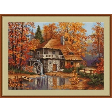 Набор для вышивки гобелена Luca-S Осенний Пейзаж G481 фото