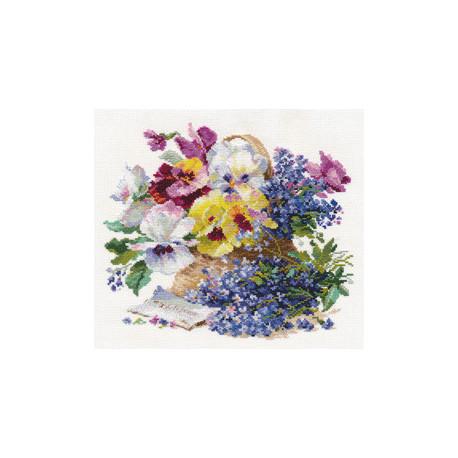 Набор для вышивки крестом Алиса 2-24 Послание любимой фото