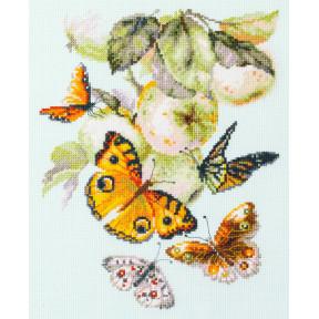 """Набор для вышивки крестом Чудесная игла """"Бабочки на яблоне"""" 130-052"""