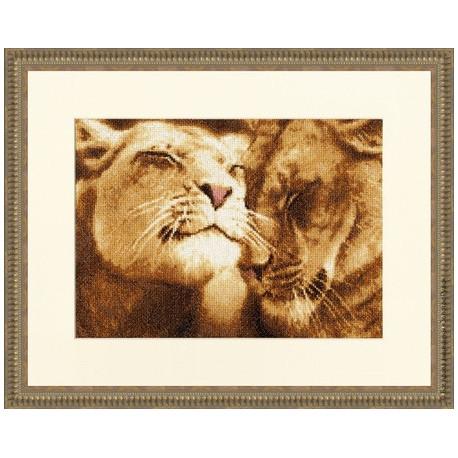 Набор для вышивки Золотое Руно ДЖ-028 Влюбленные львы фото