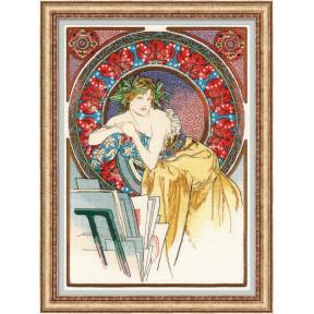 """Набор для вышивки крестом Риолис """"Девушка с мольбертом"""" 100/058"""