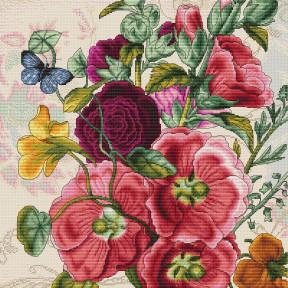 """Набор для вышивки крестом Luca-S """"Летние цветы"""" B2366"""