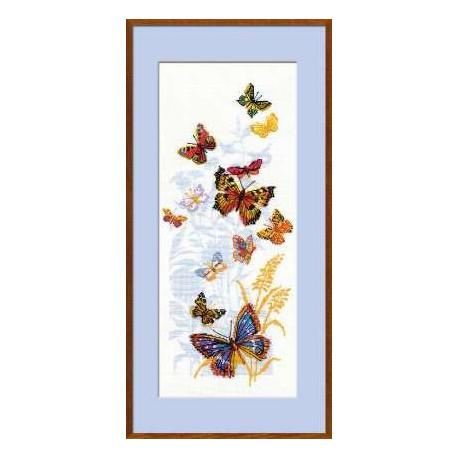 Набор для вышивки крестом Риолис 902 Бабочки России фото